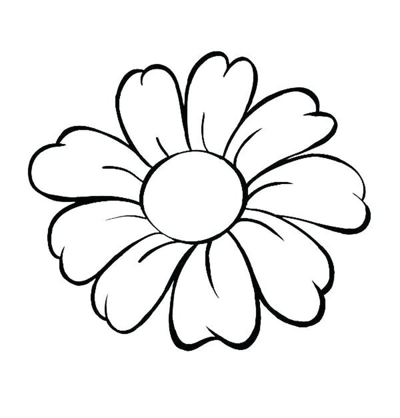 Flowers Coloring Pages Rose