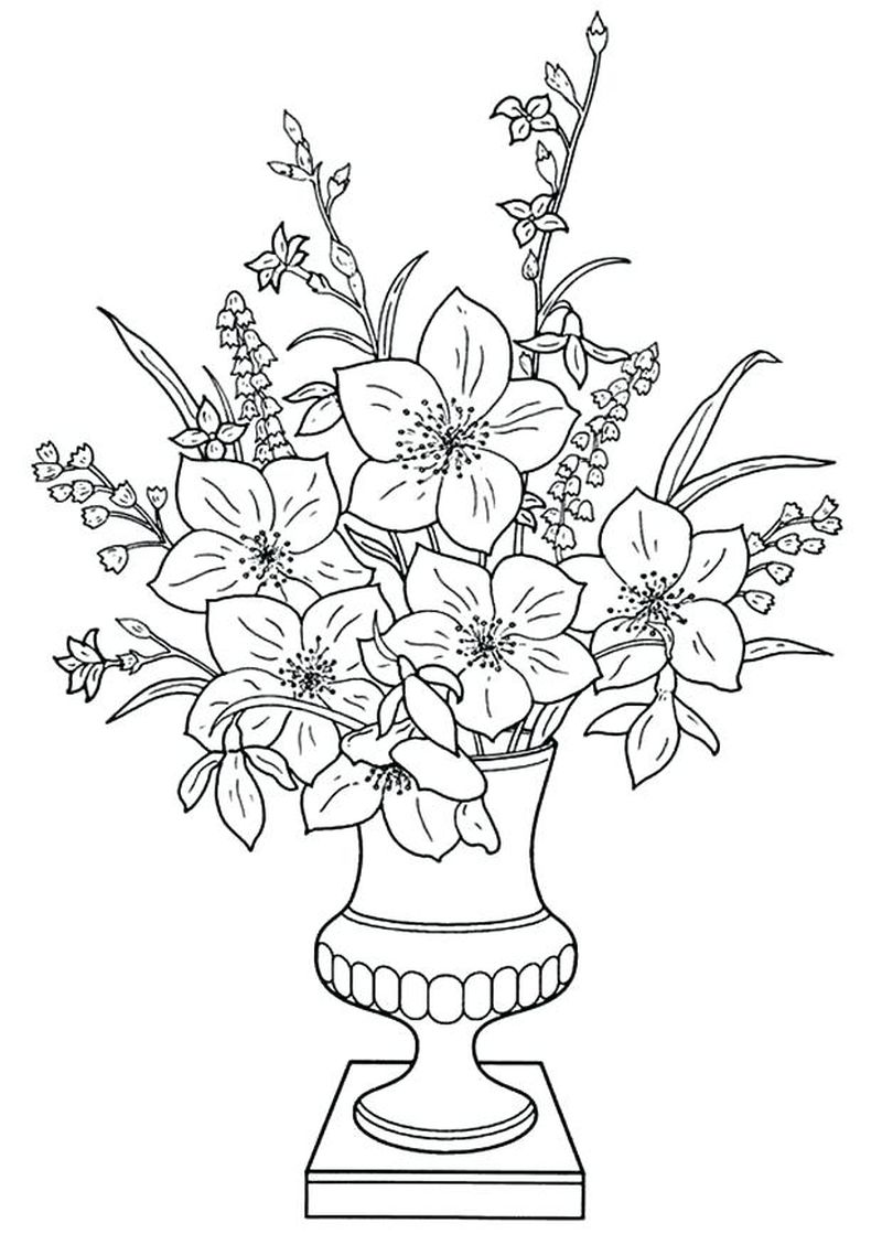 Flowers Coloring Pages To Print