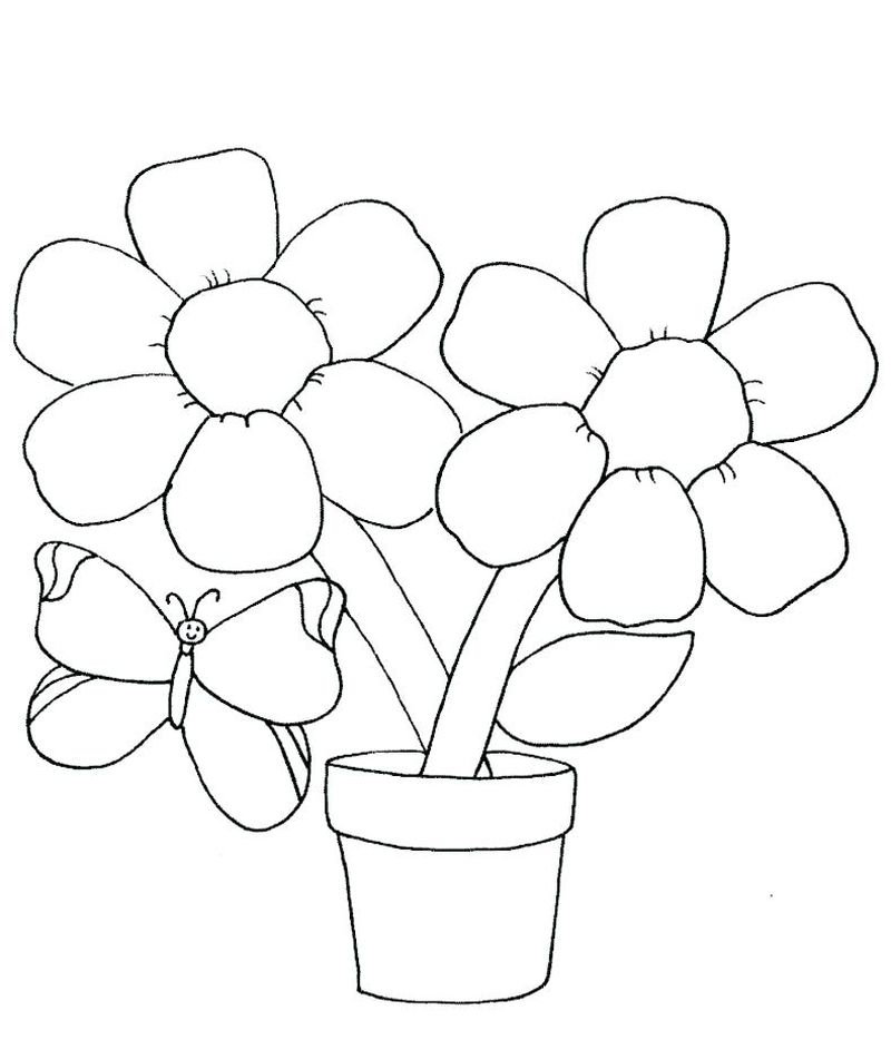 Flowers Coloring Sheets Free Printable