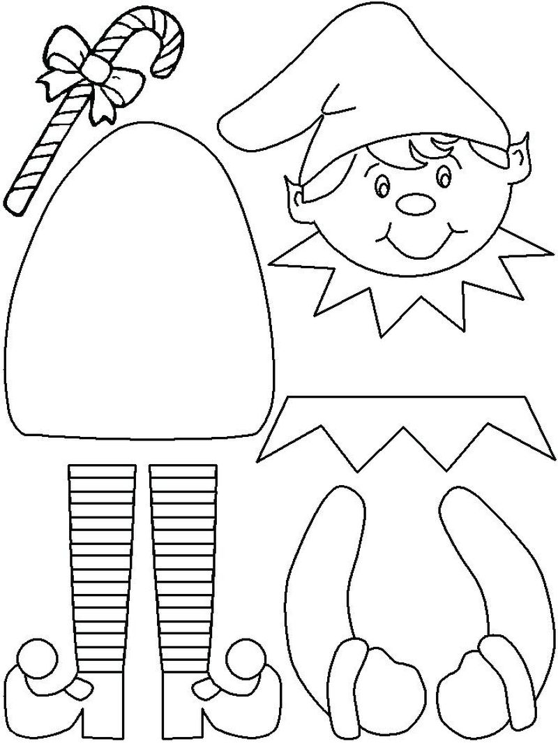 Flying Elf Coloring Pages