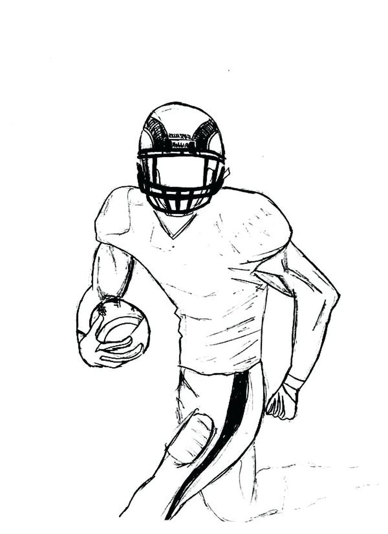 Football Coloring Pages For Adults