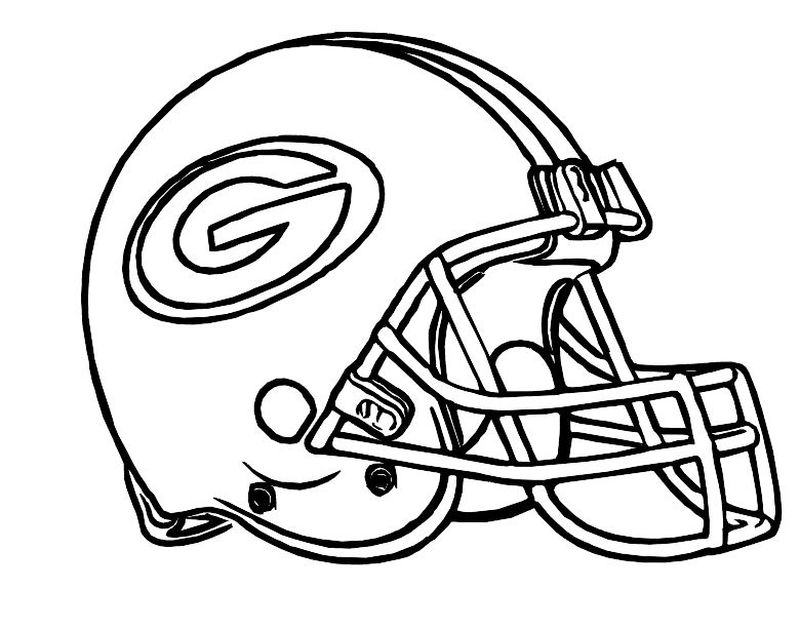 Football Coloring Pages Logos