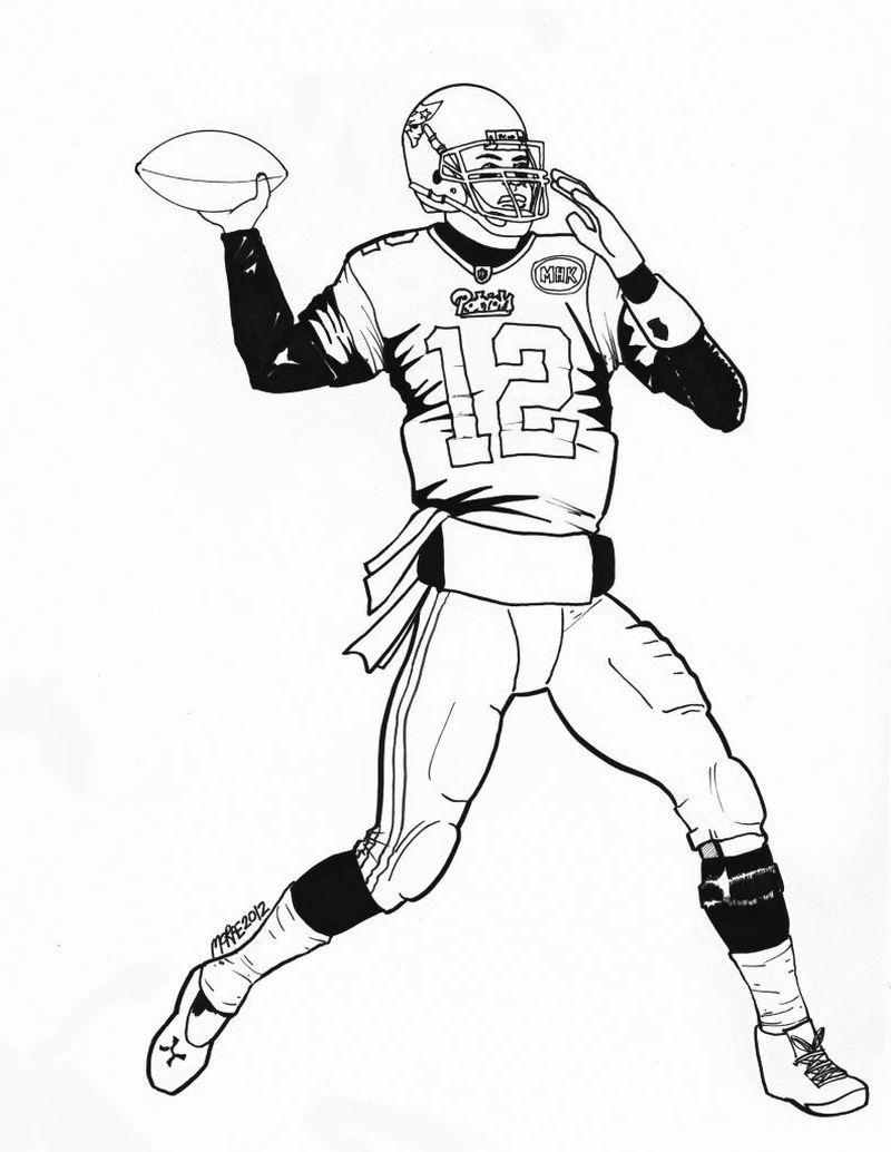 Football Coloring Pages Simple