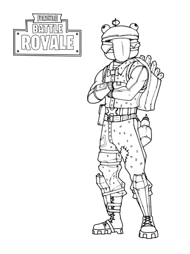 Fortnite Coloring Pages Drift