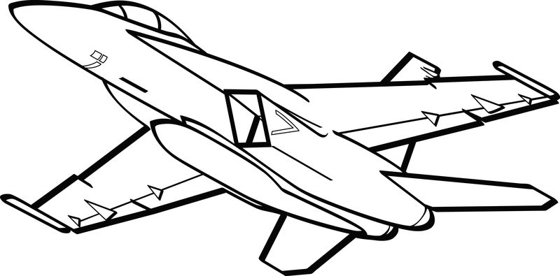 Free Airplane Coloring Pages For Kids