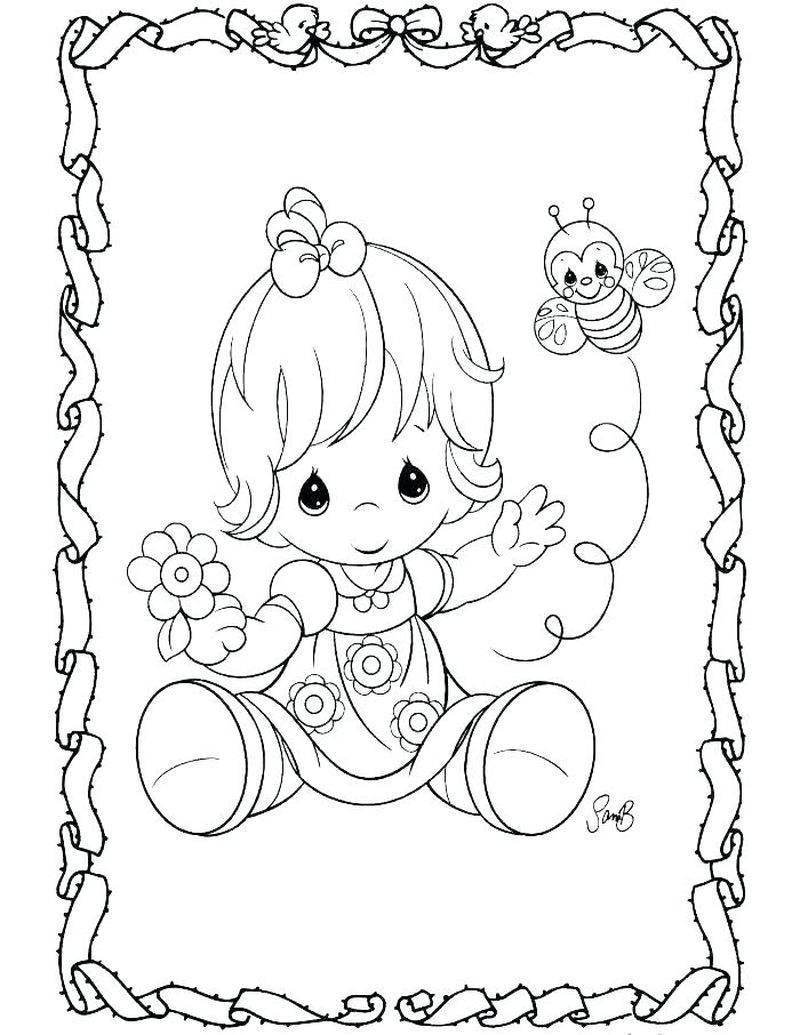 Free Angel Coloring Pages For Kids