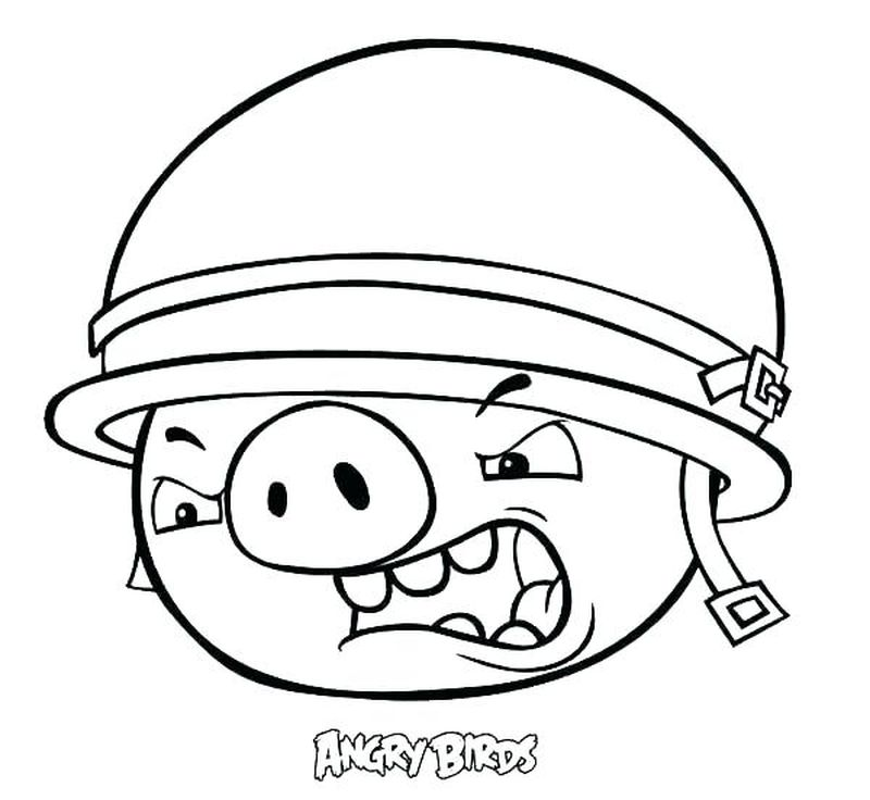 Free Angry Birds Coloring Pages For Kids
