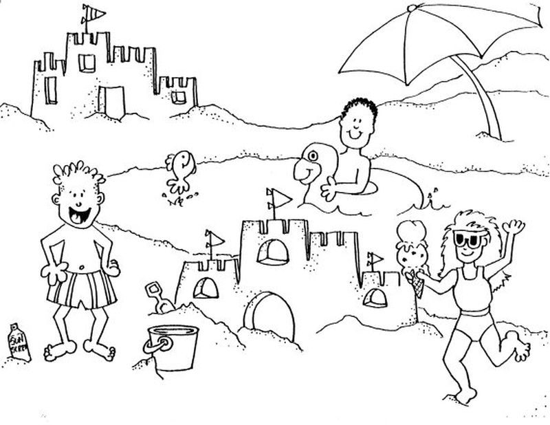 Free Beach Coloring Pages For Adults