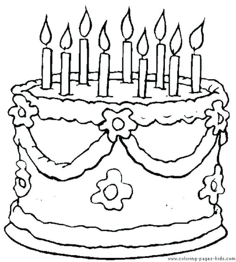 Free Birthday Cake Coloring Pages To Print