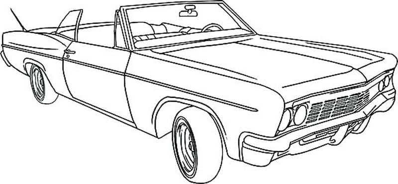 Free Car Coloring Book Pages