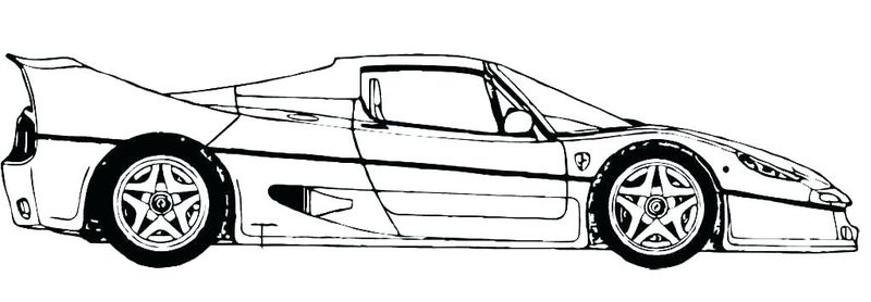 Free Car Printable Coloring Pages