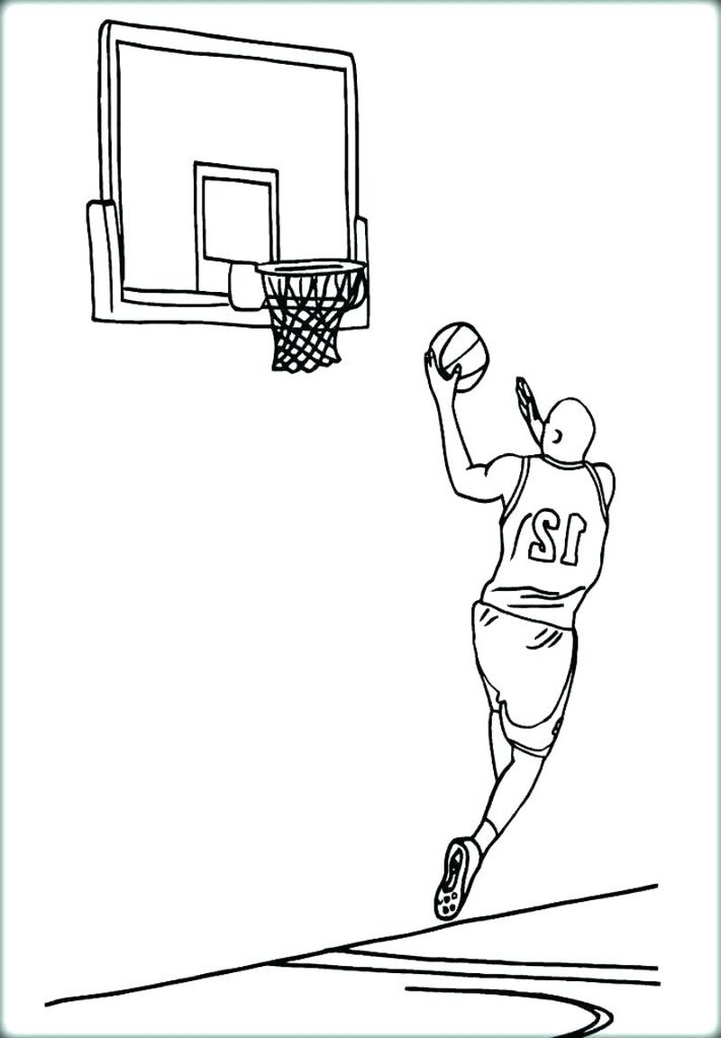 Free Coloring Pages Basketball