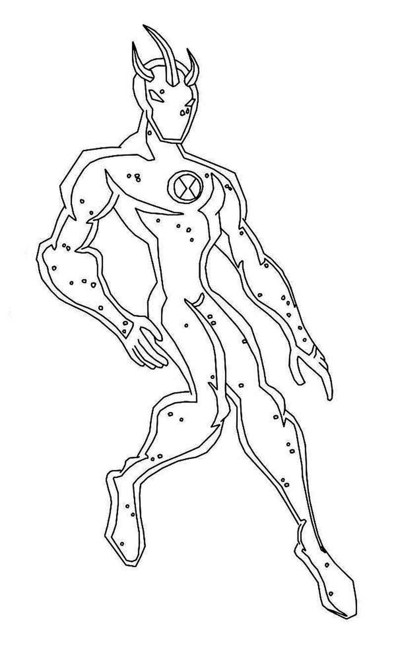 Free Coloring Pages Ben 10 Ultimate Alien