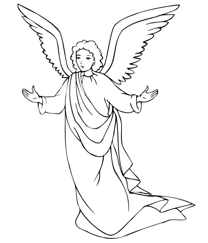 Free Coloring Pages Christmas Angel