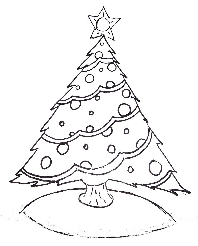 Free Coloring Pages Christmas Tree Ornaments