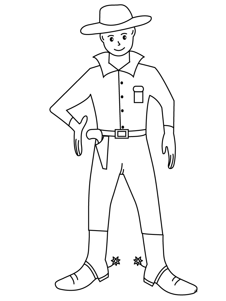 Free Coloring Pages Cowboy Boots