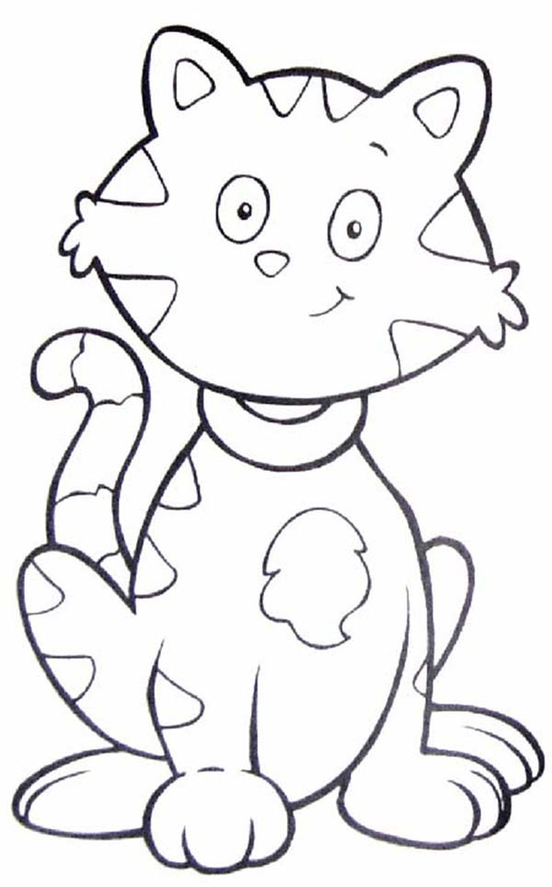 Free Coloring Pages Halloween Cats