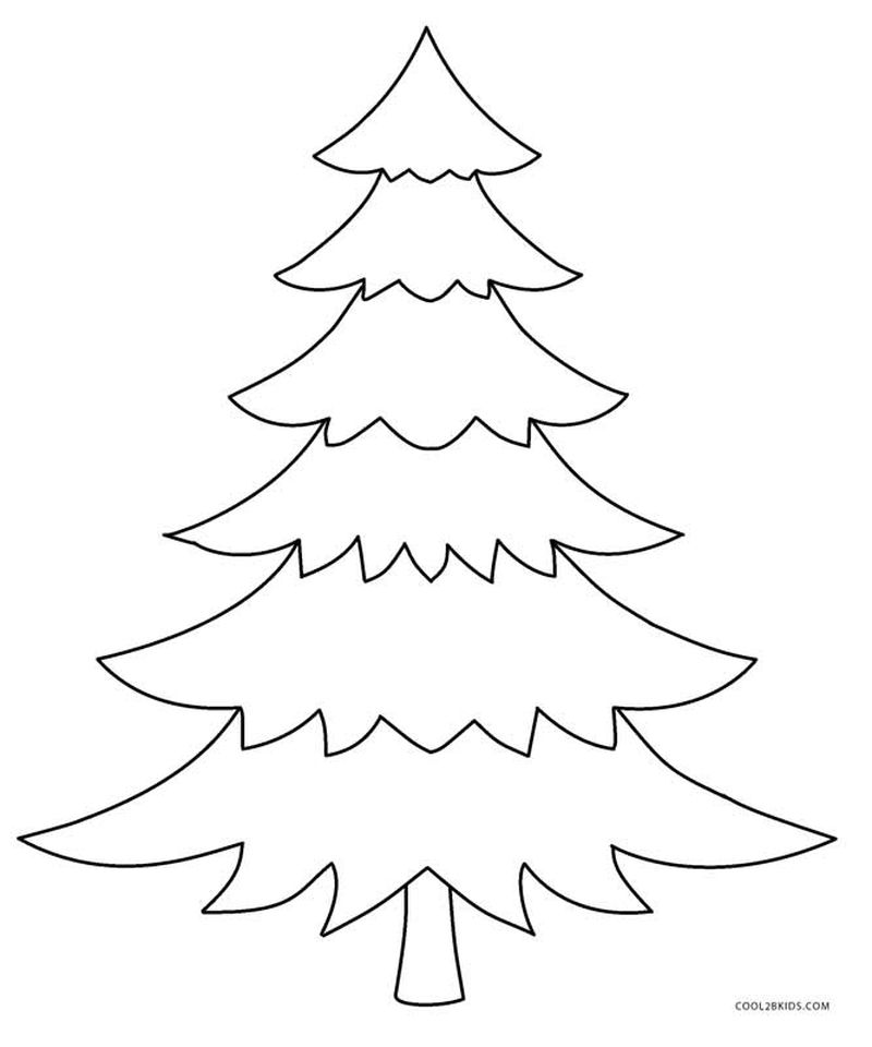 Free Coloring Pages Of A Christmas Tree