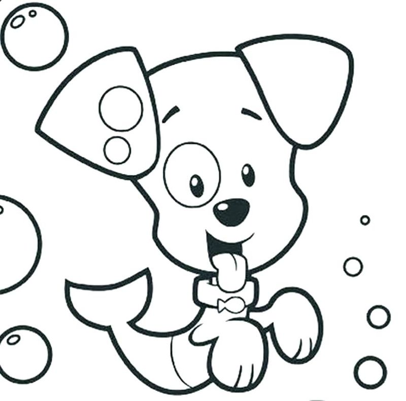 Free Coloring Pages Of Bubble Guppies