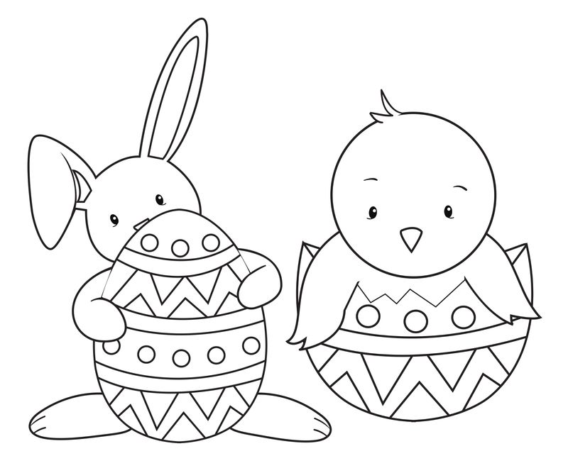 Free Coloring Pages Of Easter Bunny