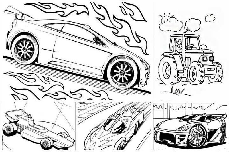 Free Coloring Pages Of Hot Wheels
