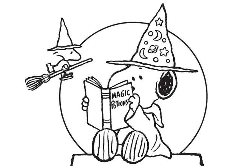 Free Coloring Pages Of Snoopy