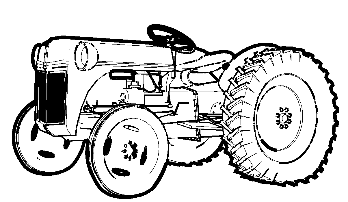 Free Coloring Pages Tractor