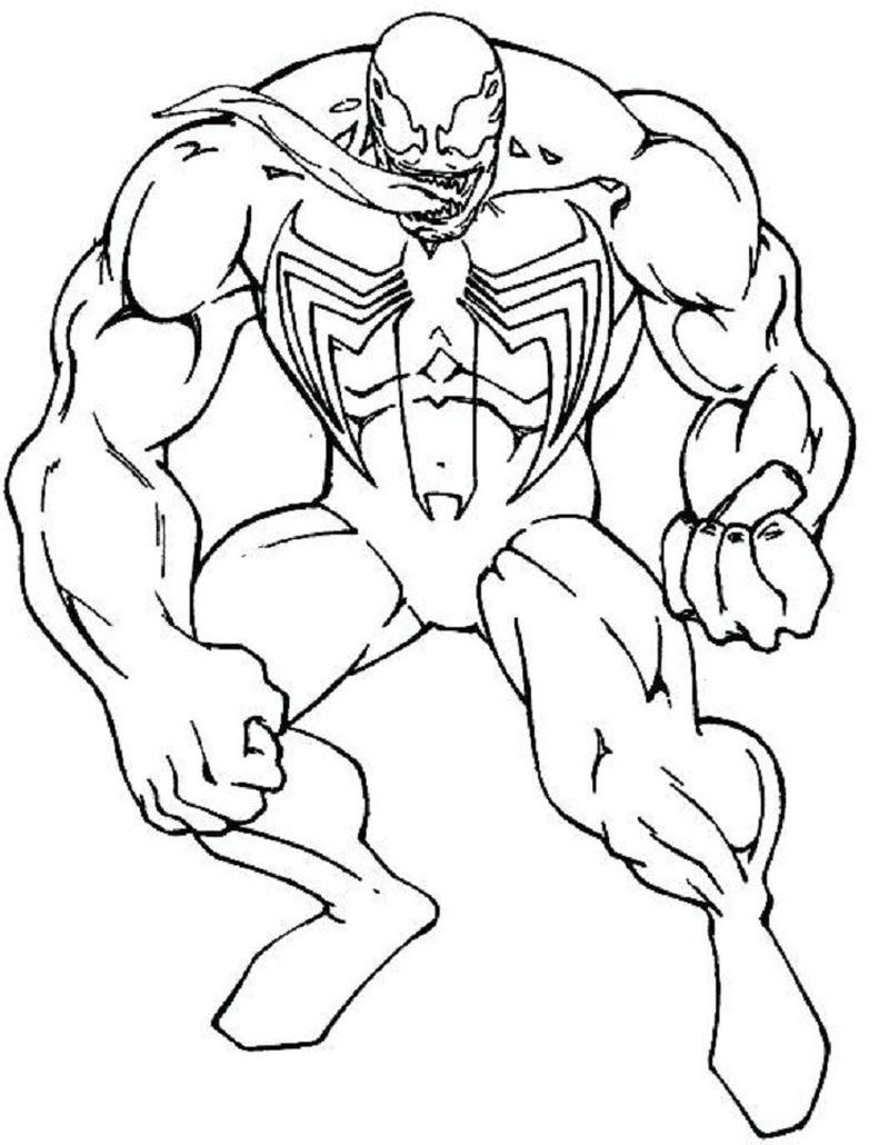 Free Coloring Pages Venom
