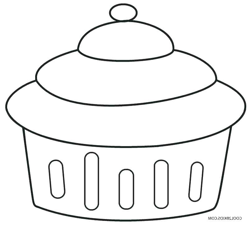 Free Cupcake Anatomy Coloring Pages
