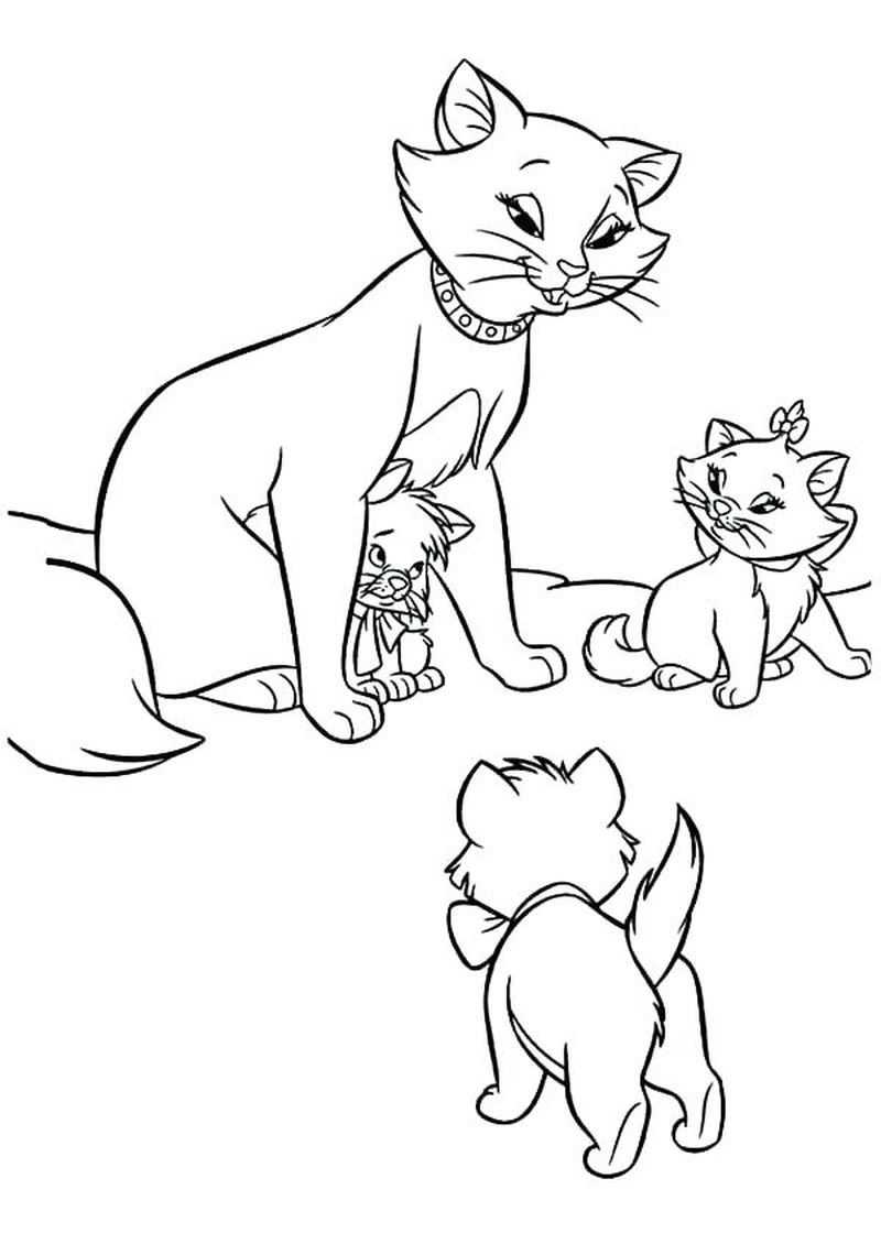 Free Disney Aristocats Coloring Pages