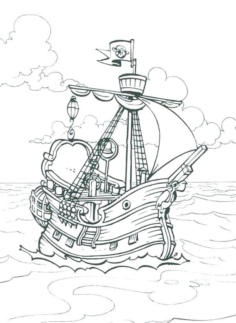 Free Disney Pirate Coloring Pages
