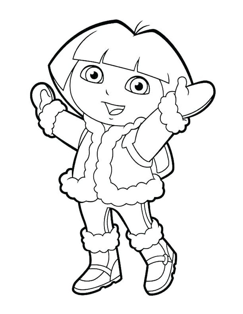 Free Dora Coloring Pages For Kids