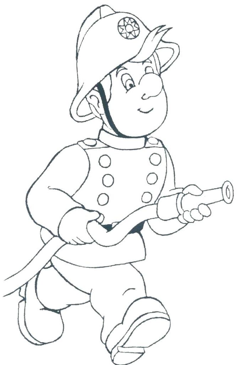 Free Fireman Coloring Pages