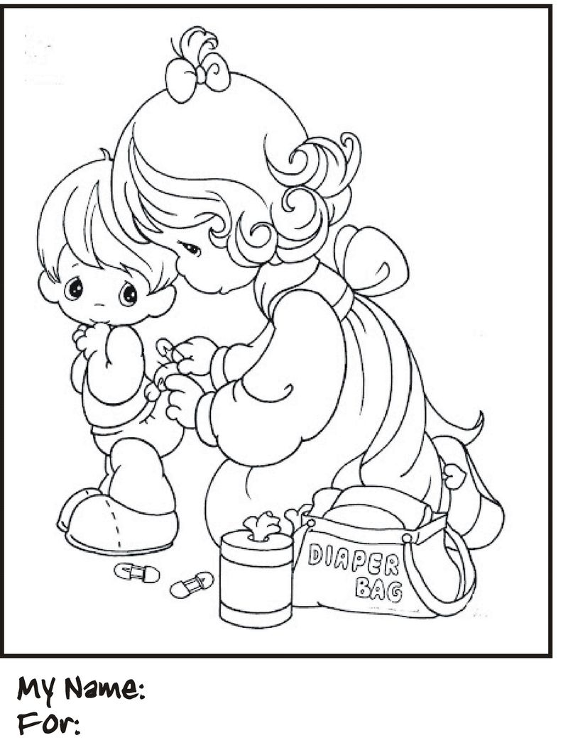 Free Happy Mothers Day Coloring Page