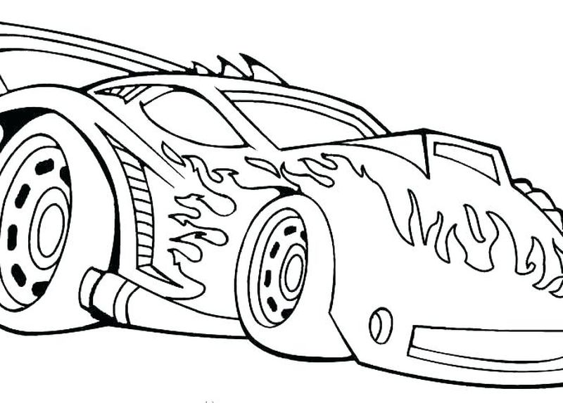 Free Hot Wheels Coloring Pages To Print