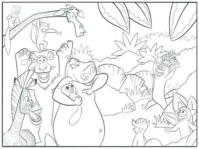Free Madagascar Coloring Pages