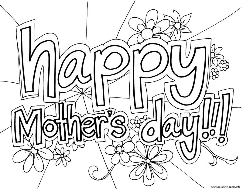 Free Mothers Day Coloring Pages For Kindergarten