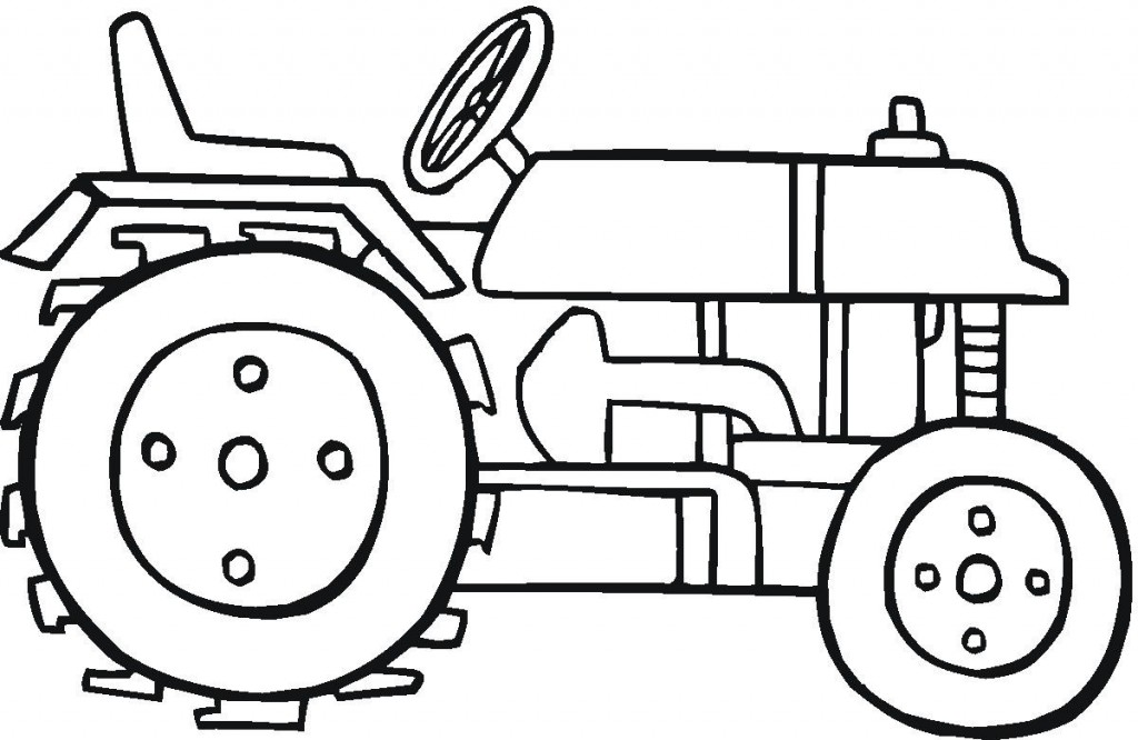 Free Online Tractor Coloring Pages