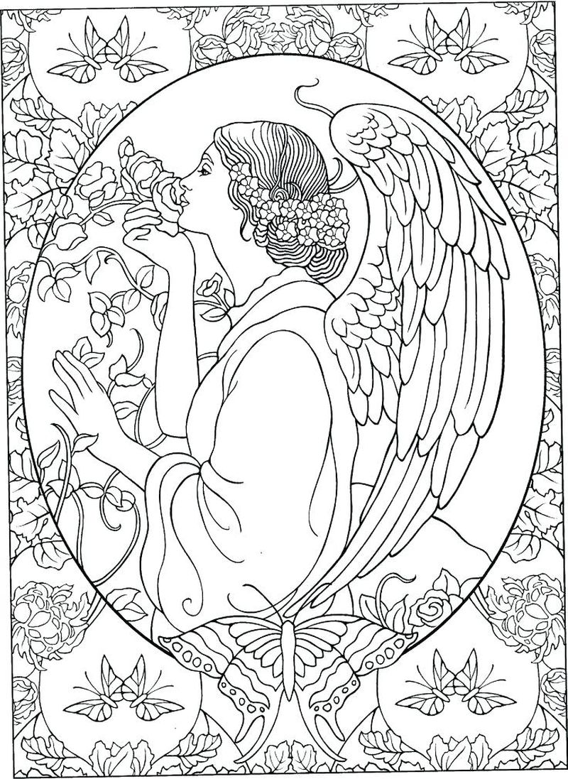 Free Printable Angel Coloring Pages