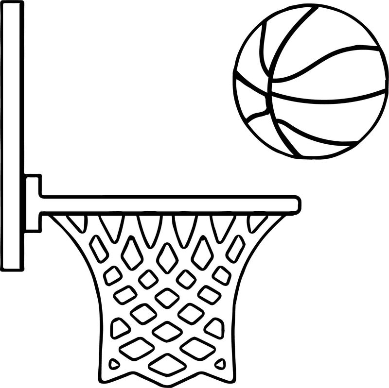 Free Printable Basketball Coloring Pages