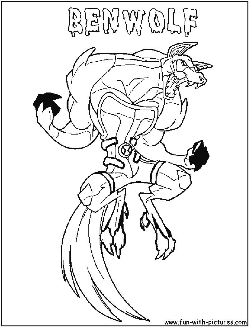 Free Printable Ben 10 Ultimate Alien Coloring Pages