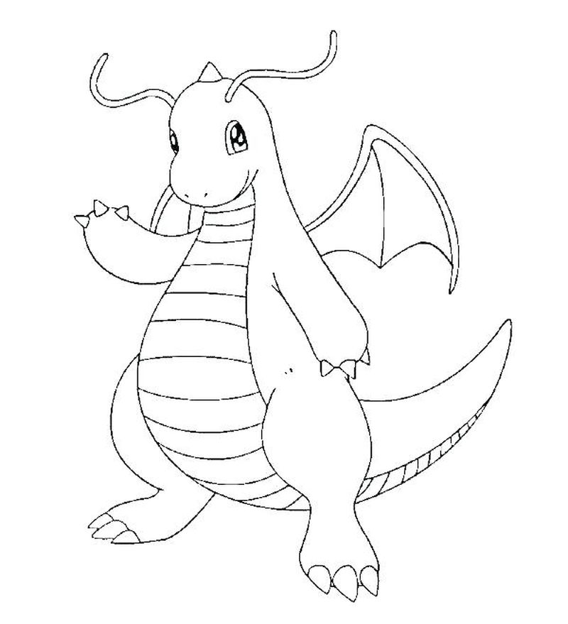Free Printable Chinese Dragon Coloring Page