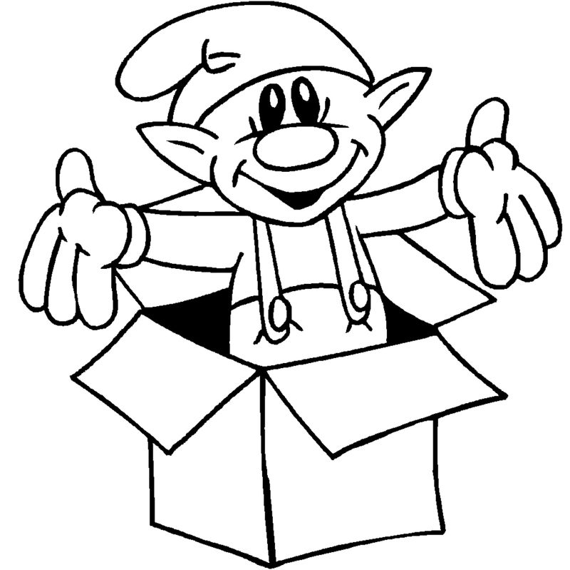 Free Printable Christmas Elf Coloring Pages