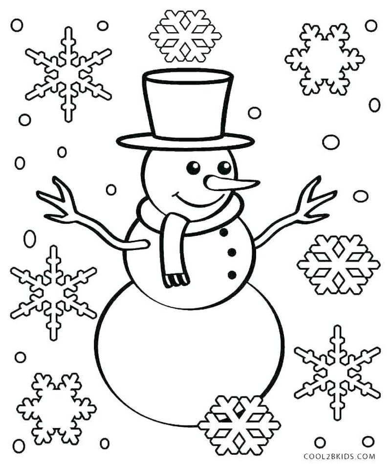 Free Printable Christmas Snowman Coloring Pages