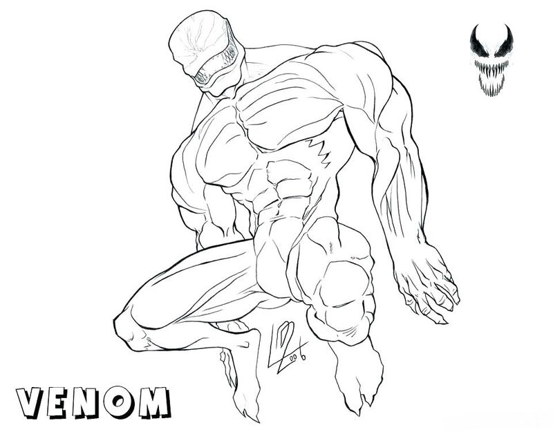 Free Printable Coloring Pages Venom