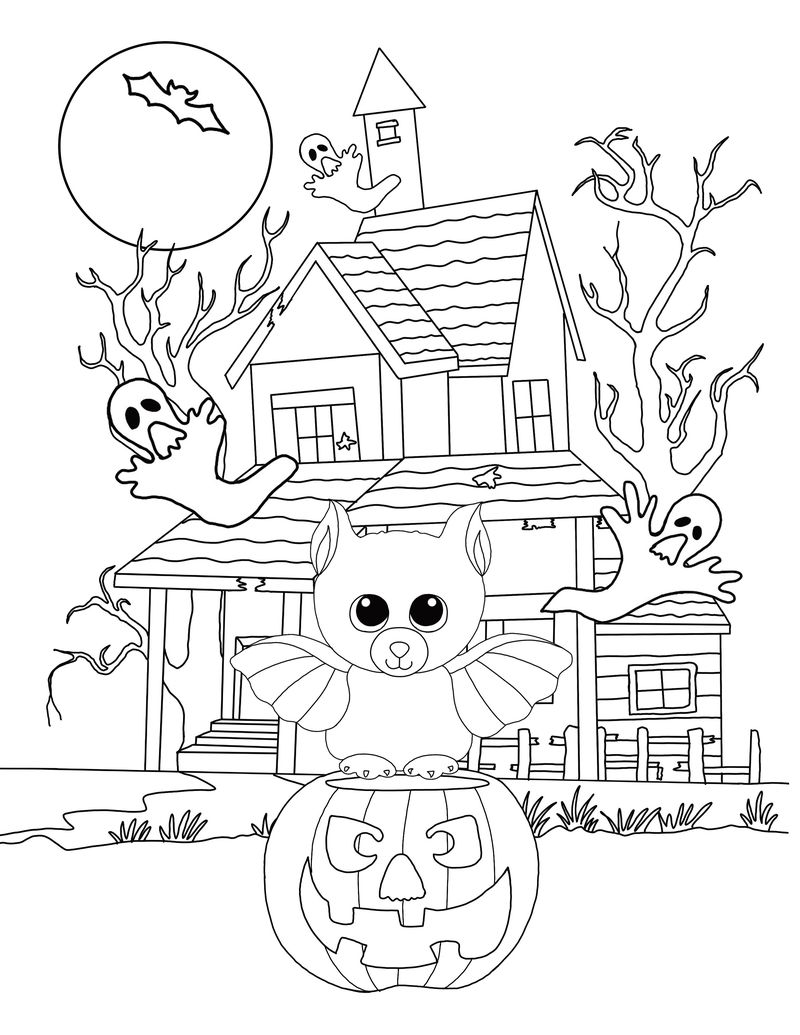 Free Printable Halloween Coloring Pages Bats
