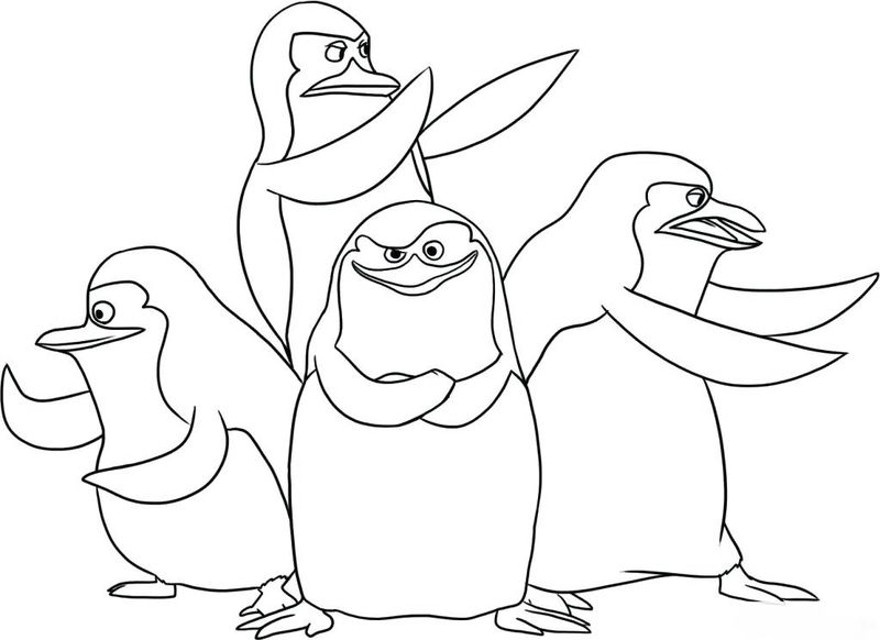 Free Printable Penguins Of Madagascar Coloring Pages