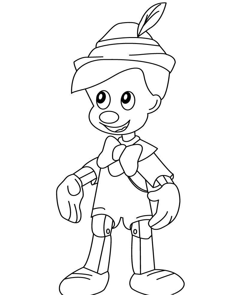 Free Printable Pinocchio Coloring Pages Pdf