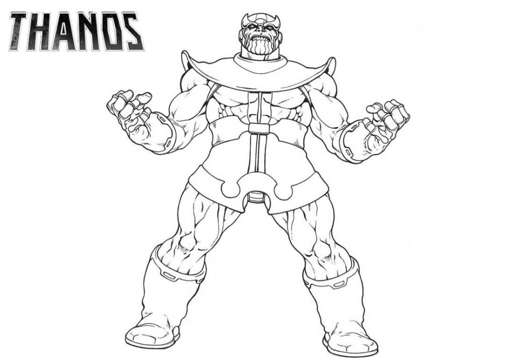 Free Printable Thanos Coloring Pages