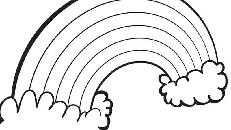Free Rainbowr Coloring Pages
